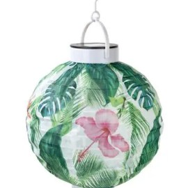 LED Solcellsdriven Ljuslykta Palmblad - Tropical Fiesta