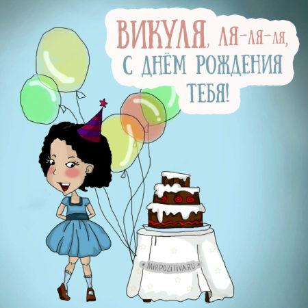 Картинки с днем рождения Вика