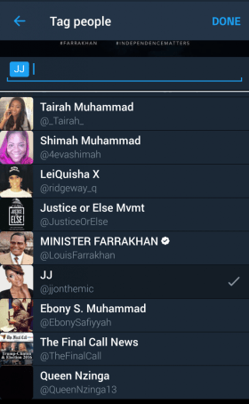Select up to 10 friends to tag.