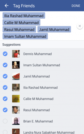 Select up to 50 friends.