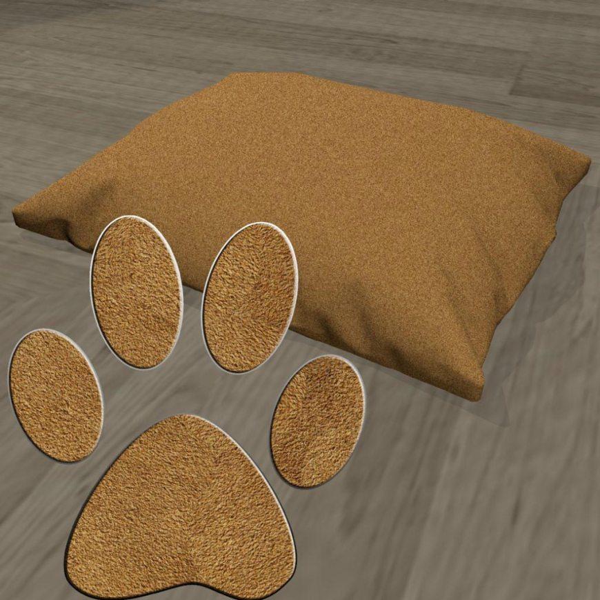 Poduszka legowisko dla psa zamsz brązowy
