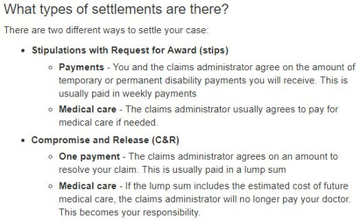 Workers Compensation Settlements In California