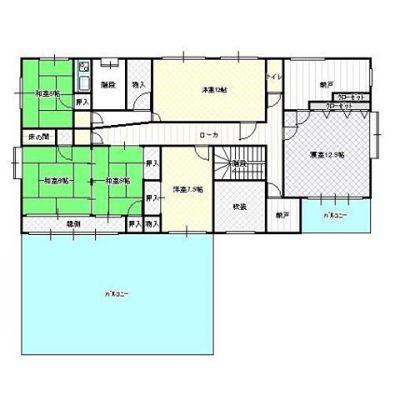 今日の妄想用間取り図その2二階です。152.10㎡バルコニー広いですね〜!ウッドデッキにしましょうか?