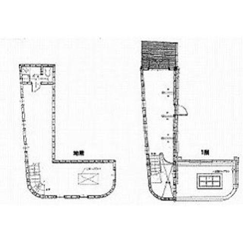 靴下?長靴?すんごい隙間に建ててある店舗発見地上一階、地下一階。#今日の間取り #間取り萌え #間取り図 #変な家  #間取り #間取り#靴下 #くつ下#長靴