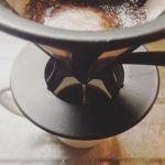 久々の朝コーヒー抽出〜香りがたまりません動悸がコワイからうすめに#朝#コーヒー#至福#カフェイン#動悸#注意