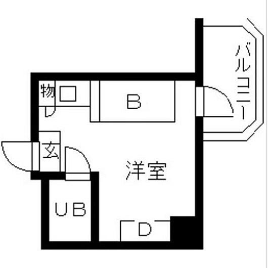 さて問題です。UBはユニットバスBはベッドじゃあDは?この部屋、冷蔵庫どこに置くんだろ〜#問題#突然#出したくなる#間取り図#間取り#間取り好き#間取り萌え#間取り妄想#間取りフェチ#間取りマニア#間取り教#間取り狂#間取りみ#間取り図鑑定士 #間取り図大好き #間取りクイズ