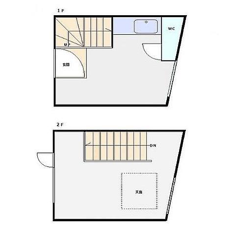 各階6帖くらいで風呂無し。収納無し。でもこれ4,680万円です。って言われたら見る目変わりません️ 港区怖い〜#住めるかな#まあ#不可能ではない #屋根はあるし#壁もある#シャワーユニット#置くかな#しかし#高いなぁ#都会#恐るべし#いらない#間取り図