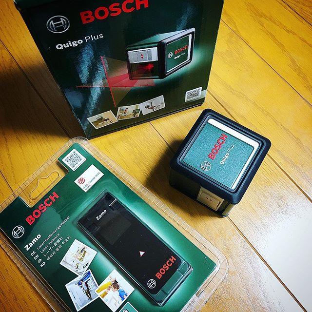 こんなの購入レーザー距離計は買って正解レーザー水平器は…照射範囲がもう少し広いといいんだけどなぁ#購入記録#bosch