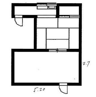 うすうすなのか、埋め込みなのか…#窓を#ください#トイレも#希望#どっちが#玄関で#show#細い#流しと#畳と#2つの扉#あと#謎の部屋#そんな#間取り図