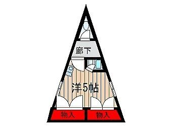 間取り図マニアにはお馴染み?のこのお部屋が空いたようですよ〜前回2年前にご紹介したので、更新無しでお引越ししたんですね。ピラミッドパワーを浴びたい方は是非令和もよろしくお願いします!#トイレは#お外#自由に#入れるのか#知りたい#ピラミッドパワー#狭小#三角#間取り図#令和も#よろしく