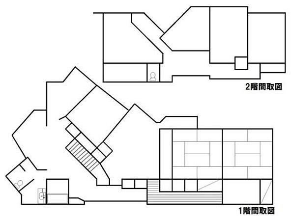 普通の家でこの形…どうなってるんだろキッチンはどれだ?#答えのない#妄想#ランチタイム#白紙#自由な#想像力#育む#間取り図#かな