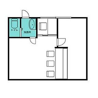 ちょっとトイレ…からの脱出口完備︎そんな居酒屋物件〜あれは…お一人様用完全個室?#カウンター#3席#独居房#一室#お家賃#93000#全然#儲かる気がしない #居酒屋#はじめますか#妄想経営#はじめました#いらっしゃいませ#間取り図