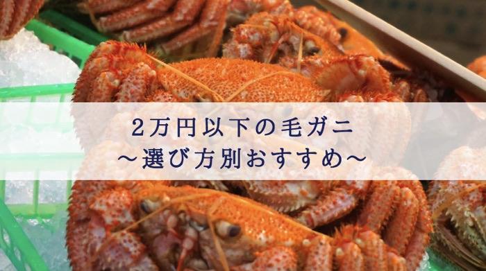 ふるさと納税 毛ガニ 2万円