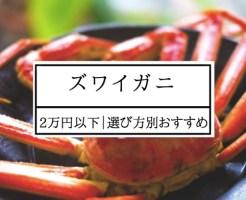 ふるさと納税 ズワイガニ 2万円