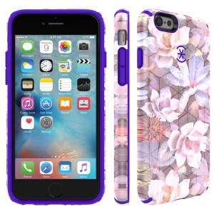 Carcasa iPhone 6S CandyShell Inked Luxury Edition Frosted floral ultraviolet purple
