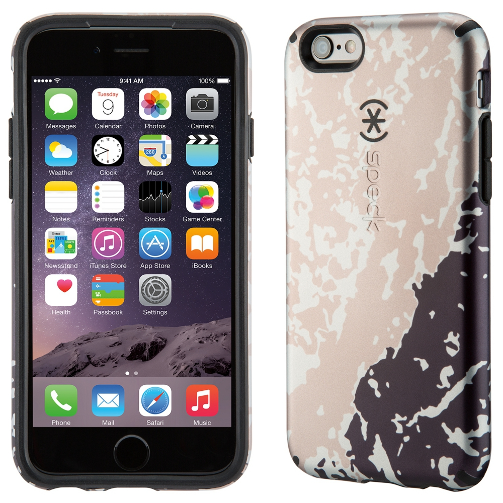 Carcasa iPhone 6, 6s CandyShell Inked Luxury Edition Golden Glacier/Black
