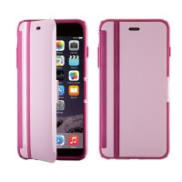 Husa carte iPhone 6, 6s CandyShell Wrap Pale Rose Pink/Cabernet Red