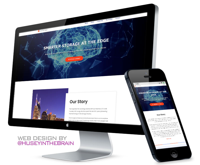 Website design for Cachengo