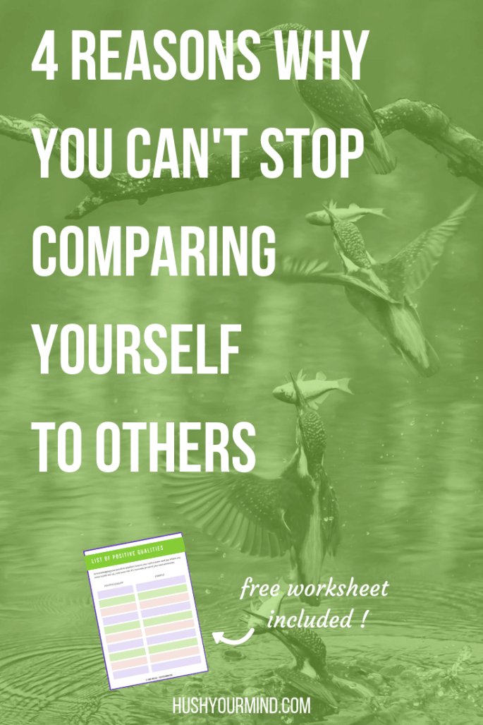 4 Reasons Why You Can't Stop Comparing Yourself to Others | You know it's unhelpful to compare and compete. You just beat yourself up and feel like crap. So, why is it so hard to stop comparing yourself to others? Read on to discover 4 main reasons.