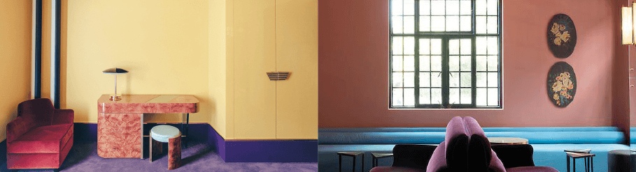 tendances color block dimore studio hotel saint marc paris