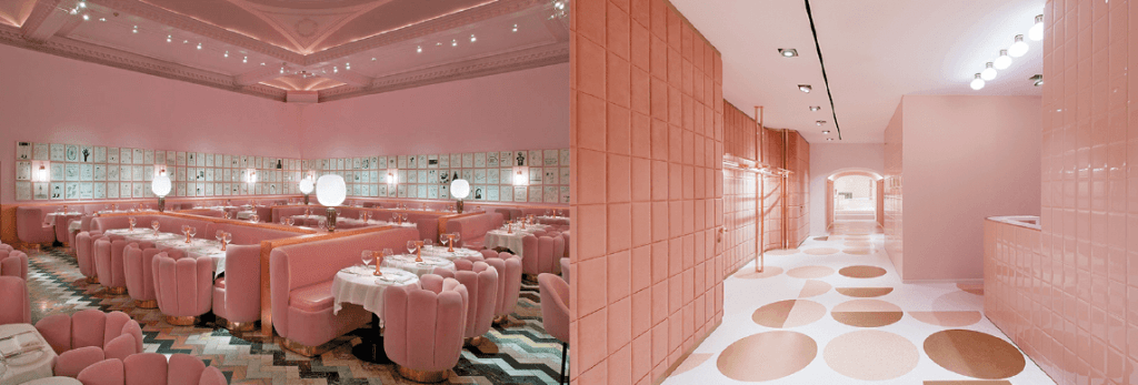 india mahdavi rose sketch restaurant valentino store