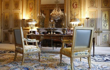 How could the French presidential office be furnished?
