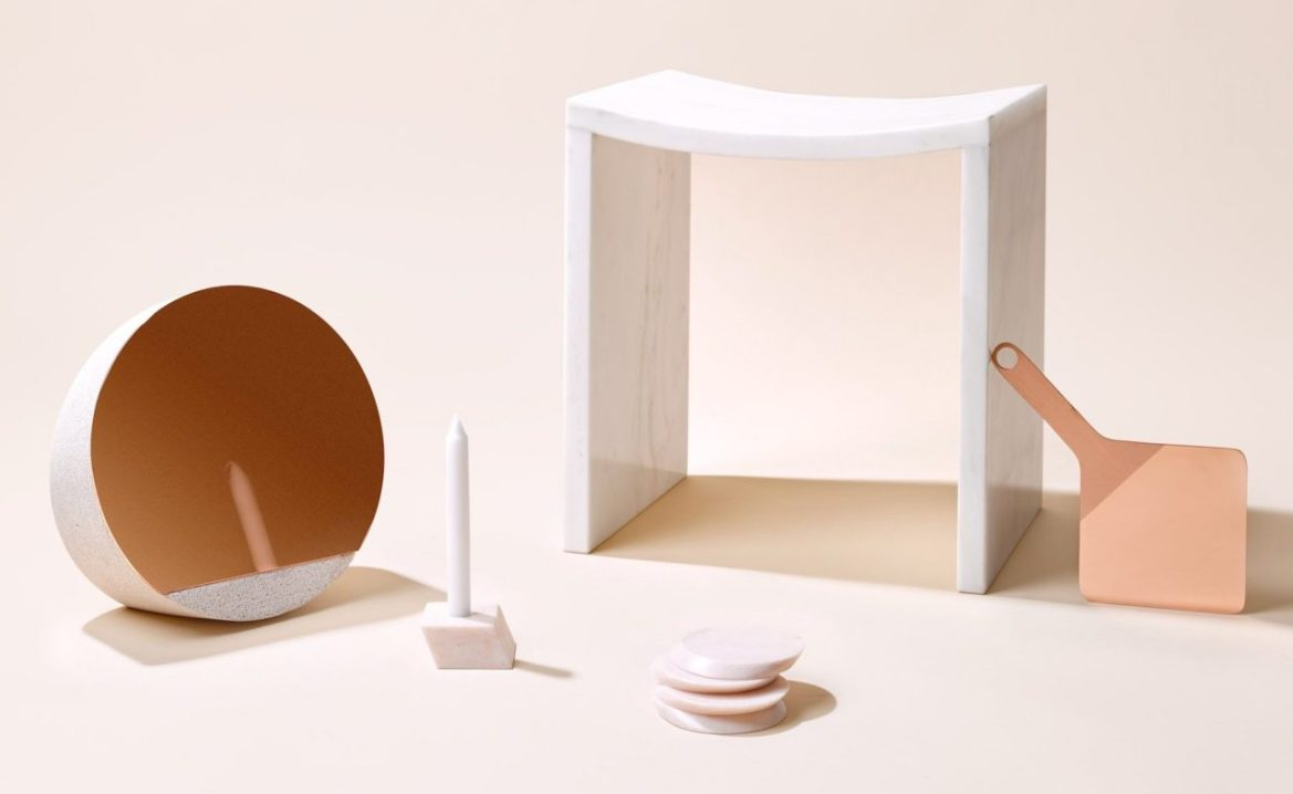 New Reflections, Objects of Common Interest, Marble Stool, Desk Mirror