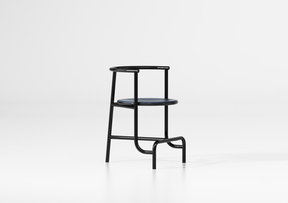 On the occasion of Maison&Objet and Paris Deco Off 2019, designer Fabien cappella designed a minimal black chair.