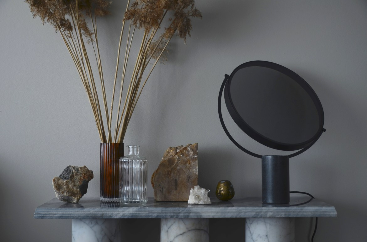 A modern danish design table lamp.