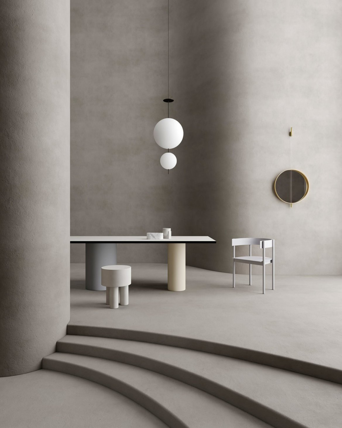 Set design in an organic Interior, Cristina Lello.