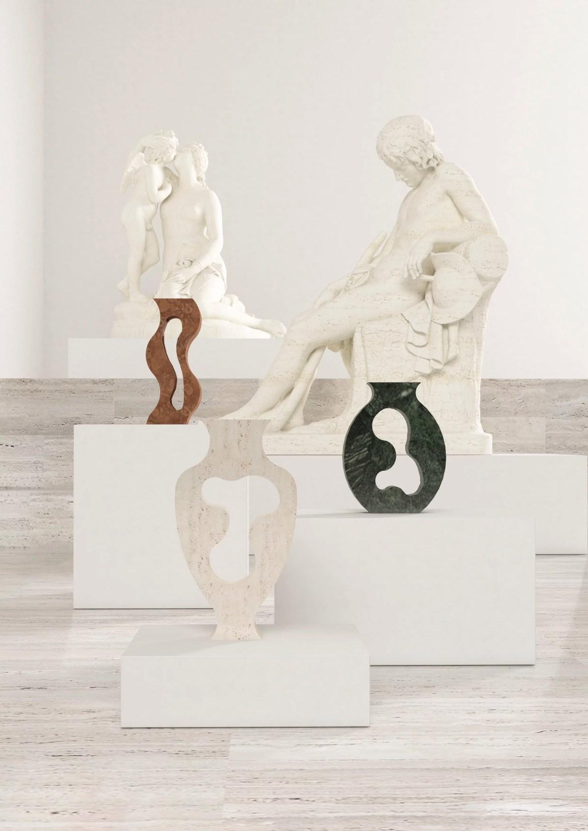 Dellostudio présente une série d évasé en marbre réalisés par Mondo Marmo Design
