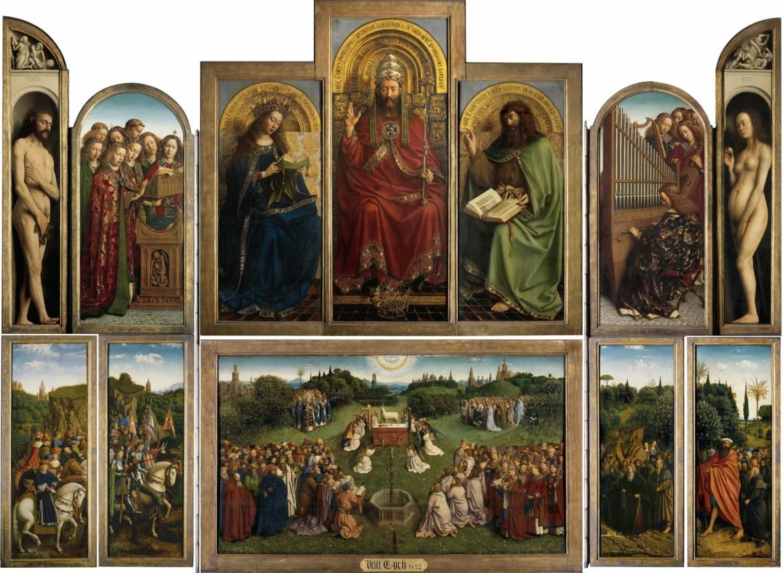 Retable de L'Agneau Mystique, Van Eyck