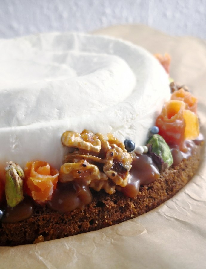 Carrot Cake with Cheesecake Mousse