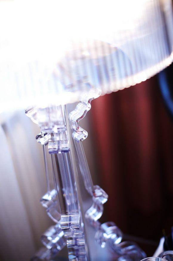 Genomskinlig lampa