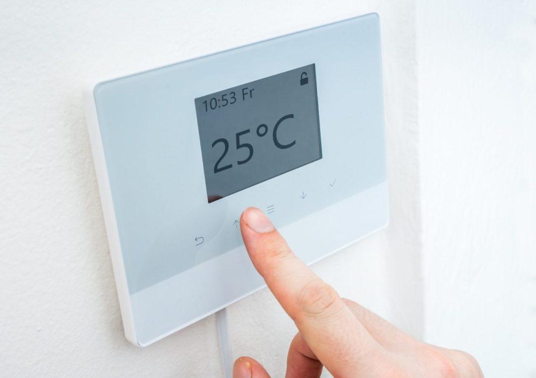 Adjusting the temperature