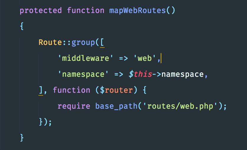 """تعريف مسارات الـ """"web"""" الخاصة بالتطبيق"""