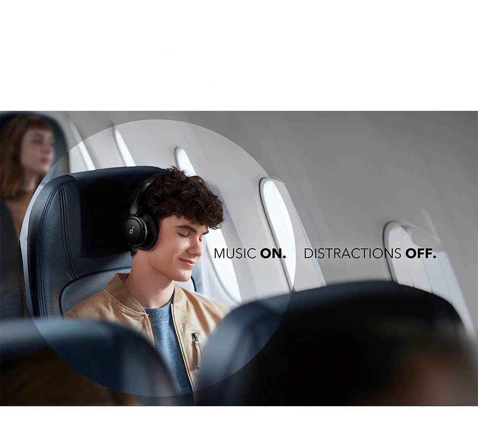 Hybrid Active Noise Cancelling Headphones with Multiple Modes, Hi-Res Sound, 40H Playtime