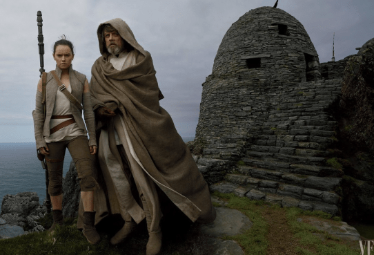 Daisy Ridley and Mark Hamill star in STAR WARS: THE LAST JEDI