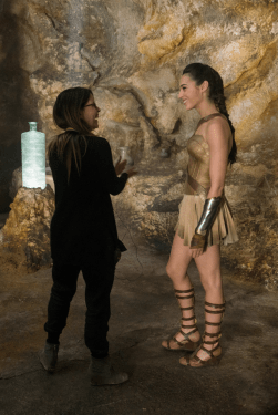 Patty Jenkins directs Gal Gadot in WONDER WOMEN