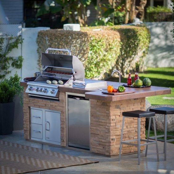 outdoor kitchen rustic ideas