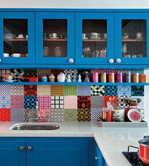 Fabric Kitchen Backsplash Ideas