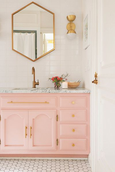 Feminine bathroom wall decor