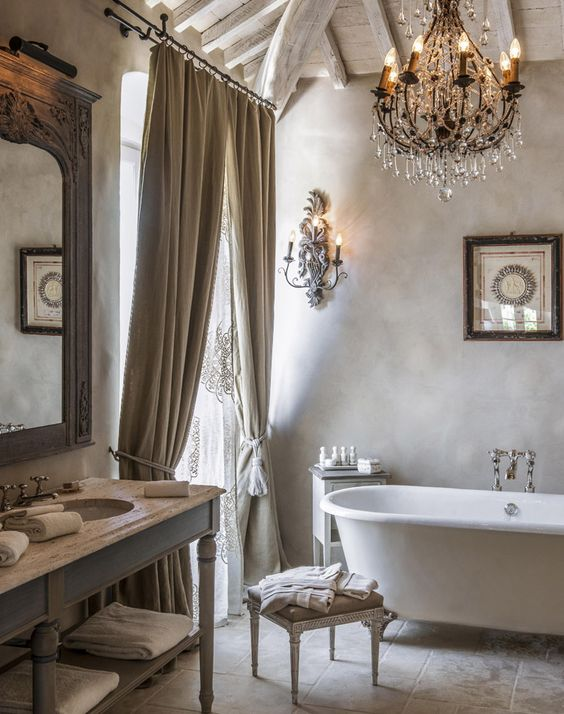 French bathroom wall decor
