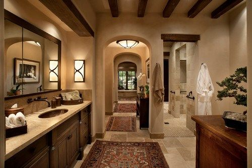 Mediterranean bathroom wall decor
