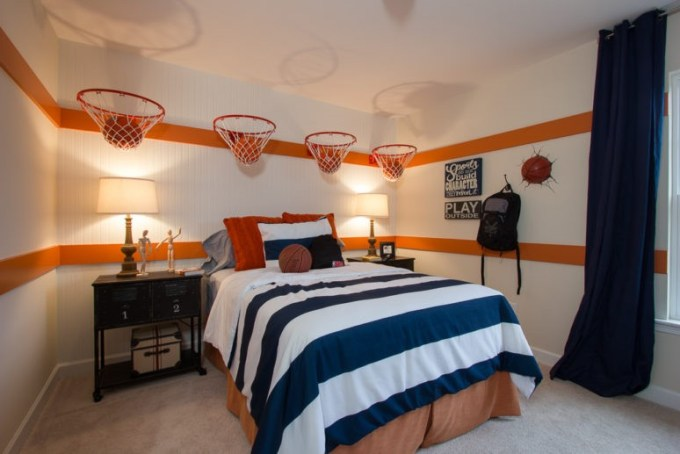 sporty boys bedroom