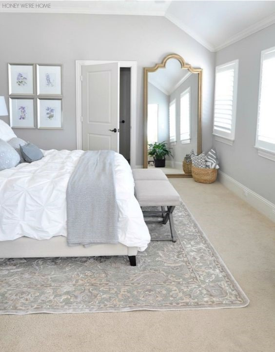 neutral master bedroom