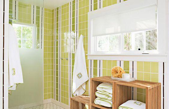 Vertical Stripes bathroom tiles ideas