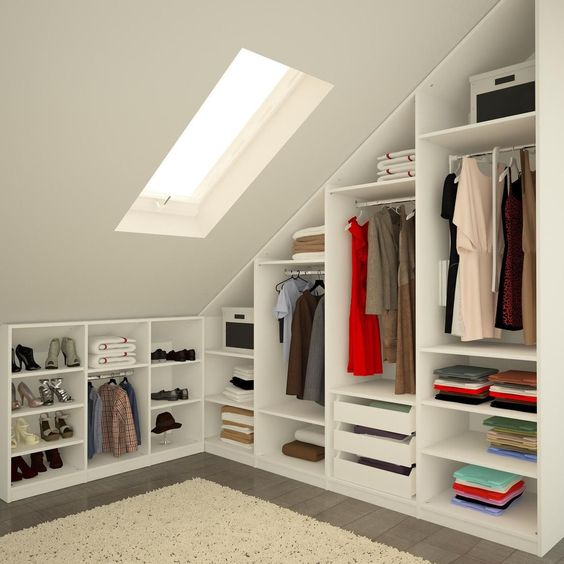 attic space closet organization ideas