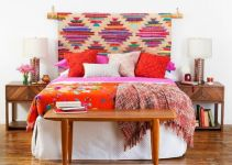 hanging rug headboard ideas