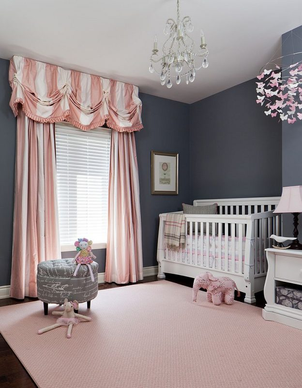baby girl room ideas pink and gray